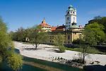 Deutschland, Bayern, Oberbayern, Muenchen: Volksbad, Muellerbad, Muellersche Volksbad, an der Isar | Germany, Bavaria, Upper Bavaria, Munich: Mullersche Volksbad at river Isar
