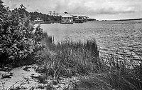 Ormond Yacht Club building, constructed in 1910 on the Halifax River in Ormond Beach, Florida, shot on expired T-Max 400 film with an Argus 100, 35mm film camera, August 2018.  (Photo by Brian Cleary/www.bcpix.com)