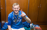St Johnstone v Dundee United....17.05.14   William Hill Scottish Cup Final<br /> Brian Easton shows who is number 1 in the dressing room after the game<br /> Picture by Graeme Hart.<br /> Copyright Perthshire Picture Agency<br /> Tel: 01738 623350  Mobile: 07990 594431