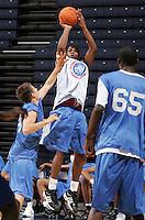 WF DeQuan Jones (Marietta, GA / Wheeler) shoots the ball during the NBA Top 100 Camp held Thursday June 21, 2007 at the John Paul Jones arena in Charlottesville, Va. (Photo/Andrew Shurtleff)