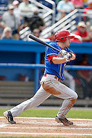 Auburn Doubledays outfielder Caleb Ramsey #29 during a game against the Batavia Muckdogs at Dwyer Stadium on September 4, 2011 in Batavia, New York.  Batavia defeated Auburn 4-2.  (Mike Janes/Four Seam Images)