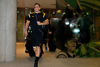 Photo: Richard Lane/Richard Lane Photography. Leinster Rugby v Wasps.  European Rugby Champions Cup Quarter Final. 01/04/2017. Wasps' Jimmy Gopperth arrives at the stadium.