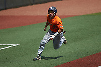 Nick Thornquist (33) of the UTSA Roadrunners hustles towards home plate against the Charlotte 49ers at Hayes Stadium on April 18, 2021 in Charlotte, North Carolina. (Brian Westerholt/Four Seam Images)