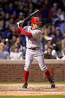 April 16, 2008:  Cincinnati Reds infielder Jeff Keppinger (27) at bat against the Chicago Cubs at Wrigley Field in Chicago, IL. Photo by: Chris Proctor/Four Seam Images