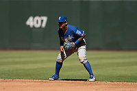 Kansas City Royals second baseman Ricky Aracena (2) during an Instructional League game against the Arizona Diamondbacks at Chase Field on October 14, 2017 in Scottsdale, Arizona. (Zachary Lucy/Four Seam Images)