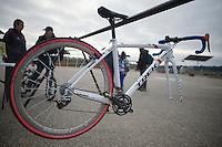 Katie Compton's (USA) rack<br /> <br /> UCI Worldcup Heusden-Zolder Limburg 2013