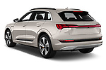 Car pictures of rear three quarter view of a 2019 Audi e-tron Advanced 5 Door SUV angular rear