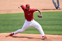 Clearwater Threshers pitcher Miguel Nunez (37) during a game against the Dunedin Blue Jays on April 6, 2014 at Bright House Field in Clearwater, Florida.  Dunedin defeated Clearwater 5-2.  (Mike Janes/Four Seam Images)