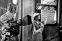 """Vanessa Redgave sul set del film """"un mese al lago"""" """"a month by the lake"""" del regista John Irving, 1995"""