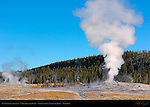 Old Faithful Geyser, Upper Geyser Basin, Yellowstone National Park, Wyoming