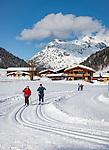 Austria, Tyrol, Hochfilzen, district Warming: Warming cross-country ski run between St. Ulrich am Pillersee and Hochfilzen, part of Hochfilzen Cross-Country and Biathlon Center   Oesterreich, Tirol, Hochfilzen, Ortsteil Warming: die Warmingloipe, Teil des Langlauf- und Biathlonzentrums  Hochfilzen