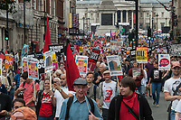 Not One More Day, Tories Out protest, Central London 2-7-17 A march and rally organised by the coalition of Resistance and supported by various Trade Unions demanding and end to austerity and the Conservative - DUP coalition government.