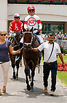 June 26,, 2021: #3 Vault and Tyler Gaffalione in the Fluer De Lis  at Churchill Downs.  Louisville, KY on June 26, 2021.  Candice Chavez/ESW/CSM