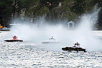 "13-14 June, 2009, APBA Inboards, Walled Lake, Novi, MI. USA.Kevin Joslyn, E-500 ""Cents Less 14"", 5 Litre hydroplane, Mark Burghardt, E-726 ""X-Ray"", 5 Litre hydroplane.©F. Peirce Williams 2009 USA.F.Peirce Williams.photography.ref: RAW (.NEF) File Available"