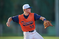 Luke Heefner (32) during the WWBA World Championship at Terry Park on October 9, 2020 in Fort Myers, Florida.  Luke Heefner, a resident of Cedar Hill, Texas who attends homeschooling, is committed to Dallas Baptist.  (Mike Janes/Four Seam Images)