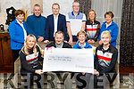The Chain Gang Cycling Club present the sum of €3,000 to Kerry Hospice in the Meadowland Hotel on Friday.<br /> Seated l to r: Andrea O'Connor, John Murray, Maura O'Sullivan and Avril Hewitt.<br /> Back l to r: Bridie O'Connor, Declan Murphy, Christo Murray, David Elton, Fiona Ryle and Ita Behan.