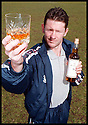 """6th May 98          Copyright Pic : James Stewart   .KEVIN MCALLISTER RAISES HIS GLASS TO LAUNCH THE NEW LIMITED EDITION WHISKY """"THE MCALLISTER"""" WHICH HAS BEEN PRODUCED TO HELP THE BACK THE BAIRNS FUND....... .(COPY FROM JIM DAVIS)......Payments to :-.James Stewart Photo Agency, Stewart House, Stewart Road, Falkirk. FK2 7AS      Vat Reg No. 607 6932 25.Office : 01324 630007        Mobile : 0421 416997.If you require further information then contact Jim Stewart on any of the numbers above........."""