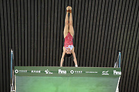 China's Minjie Zhang compete in the women's 10m Platform Semifinal B<br /> <br /> Photographer Hannah Fountain/CameraSport<br /> <br /> FINA/CNSG Diving World Series 2019 - Day 2 - Saturday 18th May 2019 - London Aquatics Centre - Queen Elizabeth Olympic Park - London<br /> <br /> World Copyright © 2019 CameraSport. All rights reserved. 43 Linden Ave. Countesthorpe. Leicester. England. LE8 5PG - Tel: +44 (0) 116 277 4147 - admin@camerasport.com - www.camerasport.com