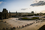 The peloton pass through the Louvre during Stage 21 of the 2019 Tour de France running 128km from Rambouillet to Paris Champs-Elysees, France. 28th July 2019.<br /> Picture: ASO/Pauline Ballet   Cyclefile<br /> All photos usage must carry mandatory copyright credit (© Cyclefile   ASO/Pauline Ballet)