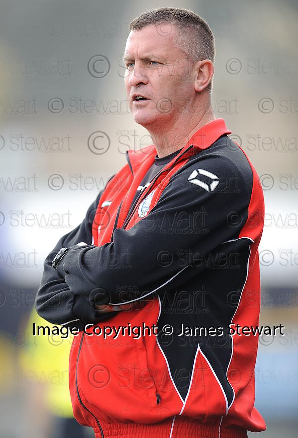 Stranraer boss Keith Knox.