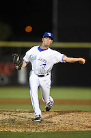 Dunedin Blue Jays pitcher Chad Girodo (18) delivers a pitch during a game against the Bradenton Marauders on April 14, 2015 at Florida Auto Exchange Stadium in Dunedin, Florida.  Bradenton defeated Dunedin 7-1.  (Mike Janes/Four Seam Images)