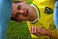 9th January 2021; Carrow Road, Norwich, Norfolk, England, English FA Cup Football, Norwich versus Coventry City; Kenny McLean of Norwich City goes down injured