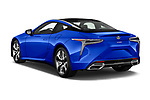 Car pictures of rear three quarter view of a 2018 Lexus LC Blue Edition 2 Door Coupe angular rear
