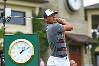 4th June 2021; Dublin, Ohio, USA; Chase Johnson (USA) watches his tee shot on 10 during the Memorial Tournament Rd2 at Muirfield Village Golf Club on June 4, 2021 in Dublin, Ohio.