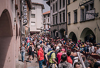 The start town of Tolmezzo filled with people to great the riders<br /> <br /> stage 15: Tolmezzo – Sappada (176 km)<br /> 101th Giro d'Italia 2018