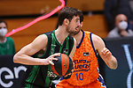Liga ENDESA 2020/2021. Game: 11.<br /> Club Joventut Badalona vs Valencia Basket: 80-91.<br /> Ante Tomic vs Mike Tobey.