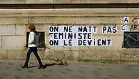 Europe/Ile de FRance/75011 /Paris : Graph Féministe , Rue du Faubourg du Temple //  Europe / Ile de FRance / 75011 / Paris: Feminist Graph, Rue du Faubourg du Temple