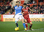 Aberdeen v St Johnstone…10.12.16     Pittodrie    SPFL<br />Steven MacLean and Anthony O'Connor<br />Picture by Graeme Hart.<br />Copyright Perthshire Picture Agency<br />Tel: 01738 623350  Mobile: 07990 594431