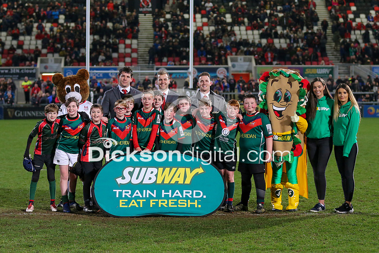 Saturday 23rd February 2019 | Ulster vs Zebre<br /> <br /> Halftime Mini-Rugby during the Guinness PRO14 league clash between Ulster Rugby and Zebre at Kingspan Stadium, Ravenhill Park, Belfast, Northern Ireland. Photo by John Dickson / DICKSONDIGITAL