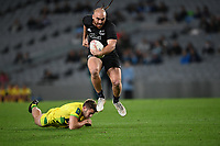 22nd May 2021; Eden Park, Auckland New Zealand; All Blacks Sevens versus Australia, Trans-Tasman Sevens;  Joe Webber breaks a tackle