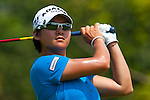 CHON BURI, THAILAND - FEBRUARY 19:  Yani Tseng of Taiwan tees off on the 3rd hole during day three of the LPGA Thailand at Siam Country Club on February 19, 2011 in Chon Buri, Thailand. Photo by Victor Fraile / The Power of Sport Images