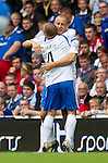 Rangers v St Johnstone....28.08.10  .Danny Grainger celebrates his goal with Jody Morris.Picture by Graeme Hart..Copyright Perthshire Picture Agency.Tel: 01738 623350  Mobile: 07990 594431