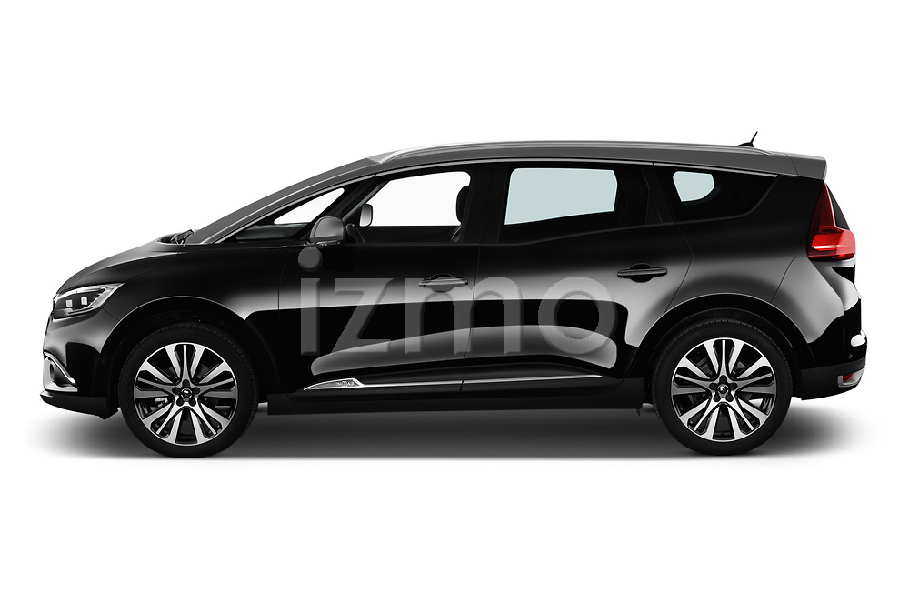 Car driver side profile view of a 2018 Renault Grand Scenic initiale paris 5 Door Mini Van