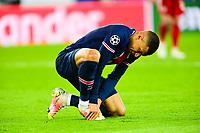 13th April 2021; Parc de Princes, Paris, France; UEFA Champions League football, quarter-final; Paris Saint Germain versus Bayern Munich;  Kylian Mbappe (PSG) feels his ankle after a challenge
