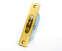 """Brass Ball Bearing Sash Pulleys 1 3/4"""" : Polished Brass Square Ends"""