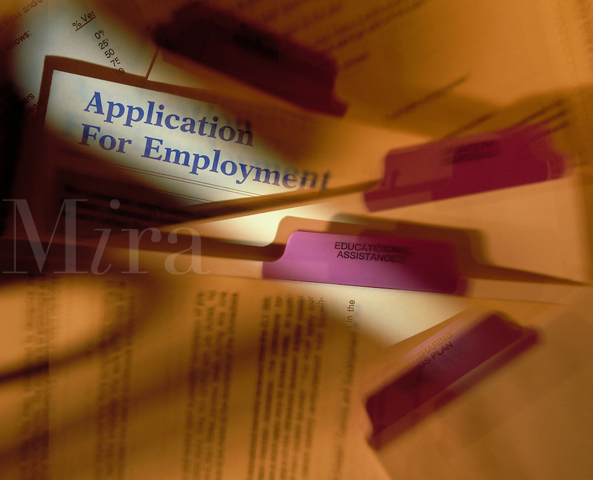 Employment application. United States.