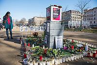 Gedenken an die Opfer des rechtsextremen Terroranschlag in Hanau am 19.2.2020 am Gedenkort fuer die Opfer von Rassismus und Polizeigewalt im Berliner Stadtteil Kreuzberg.<br /> 21.2.2021, Berlin<br /> Copyright: Christian-Ditsch.de