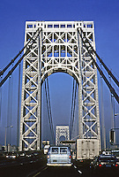 New York City: George Washington Bridge 1931. O.H. Ammann, engineer and Cass Gilbert, Architect. Photo '91.