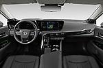 Stock photo of straight dashboard view of 2021 Toyota Mirai Limited 4 Door Sedan Dashboard