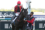 March 27, 2021: EXTRAVAGANT KID #2 ridden by jockey Joe Fanning wins the Al Quoz sprint for trainer Brendan P Walsh on Dubai World Cup Day, Meydan Racecourse, Dubai, UAE. Shamela Hanley/Eclipse Sportswire/CSM