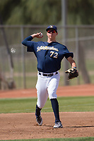 Milwaukee Brewers third baseman Chad McClanahan (72) during a Minor League Spring Training game against the Kansas City Royals at Maryvale Baseball Park on March 25, 2018 in Phoenix, Arizona. (Zachary Lucy/Four Seam Images)