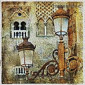 Isabella, MODERN, MODERNO, paintings+++++,ITKE046610-K,#n# venetian,old city,lanterns ,everyday