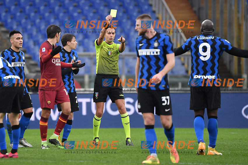 Referee Marco Di Bello  during the Serie A football match between AS Roma and FC Internazionale at Olimpico stadium in Roma (Italy), January 10th, 2021. Photo Andrea Staccioli / Insidefoto