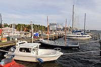 Hafen von Lauterbach bei Putbus auf Rügen, Mecklenburg-Vorpommern, Deutschland