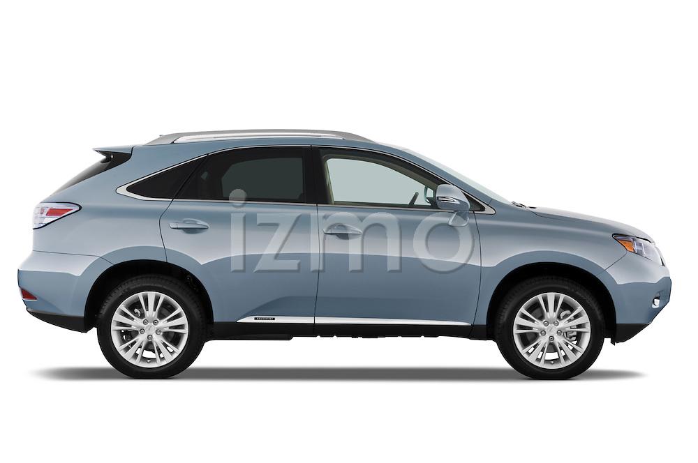 Passenger side profile view of a 2010 Lexus RX 450h.