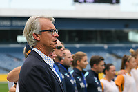 26 November 2017, Melbourne - The CEO of Football Australia David Gallop stands for the national anthem during an international friendly match between the Australian Matildas and China PR at GMHBA Stadium in Geelong, Australia.. Australia won 5-1. Photo Sydney Low